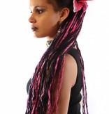 Dark Pink Lily Hair Flower 2 x