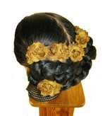 Rust-Brown Rose Hair Flowers