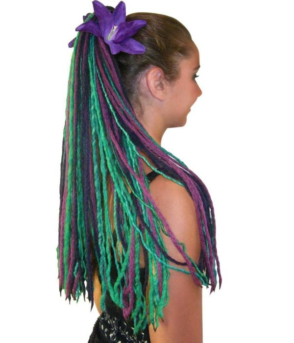 Purple Lily Hair Flower 2 x