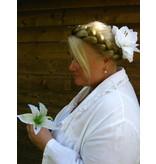 Wedding Amaryllis Hair Flower 2 x