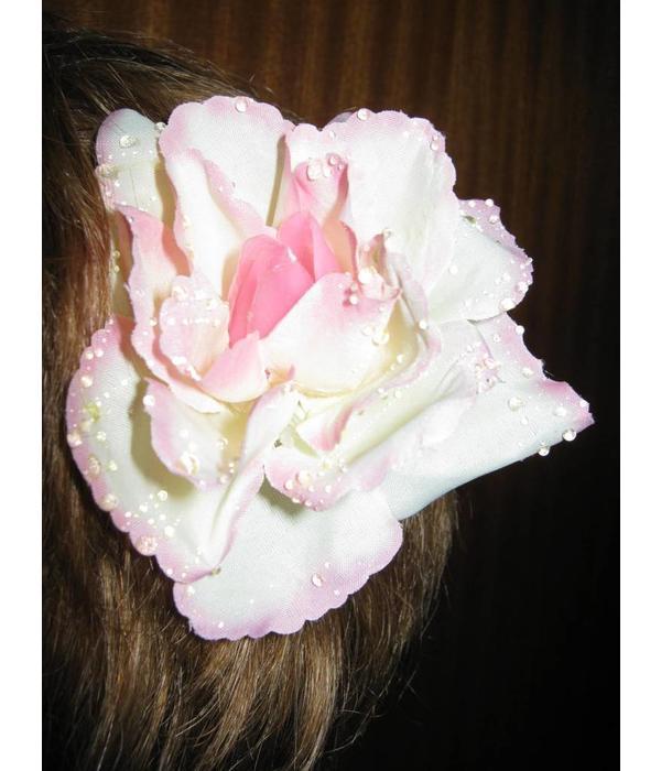 Boho Rose Hair Flowers 2 x apricot