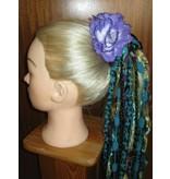 Purple Rose Hair Flowers 2 x