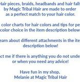 Braid/ Plait M size, crimped hair