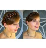 Braid/ Plait S extra size, crimped hair
