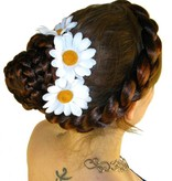 White Daisy Hair Flowers
