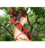 Red Bollywood Hair Flowers