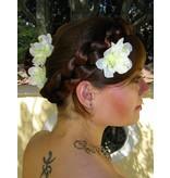 White Bollywood Hair Flowers