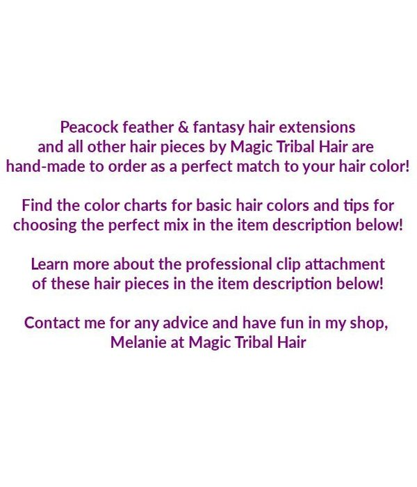 Double Peacock Feather Hair Extensions