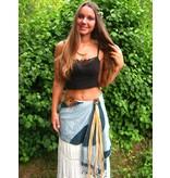 Tribal belt tassel clip Gypsy Gold