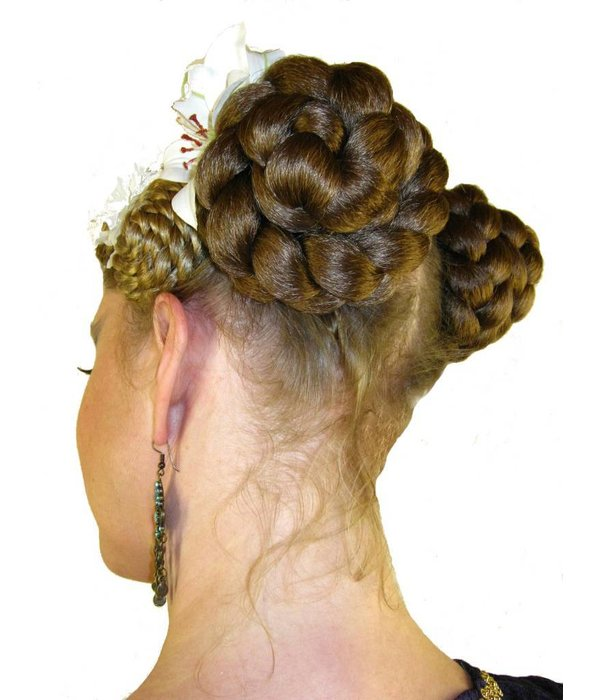 Braided Hair Buns, voluminous hair