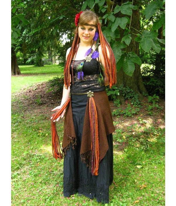 Gypsy Flower dreads hip & hair tassel