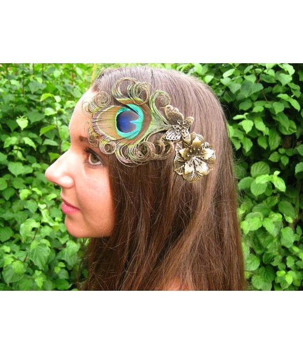 Neo-Victorian Paradise Hair Flower