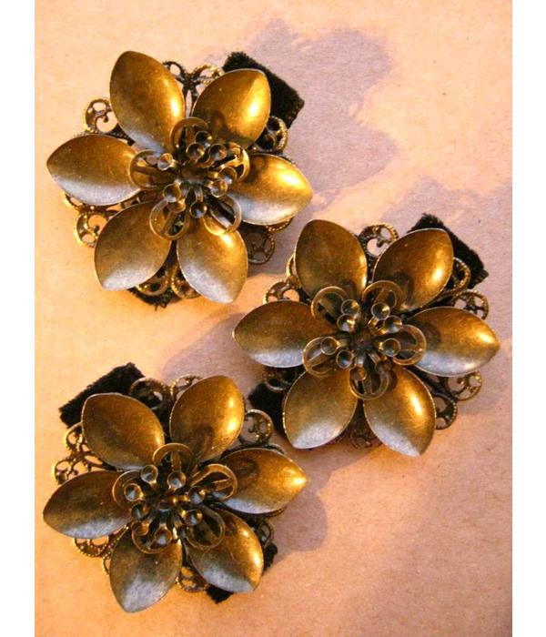 Mermaid Water Lily Bronze Hair Flower