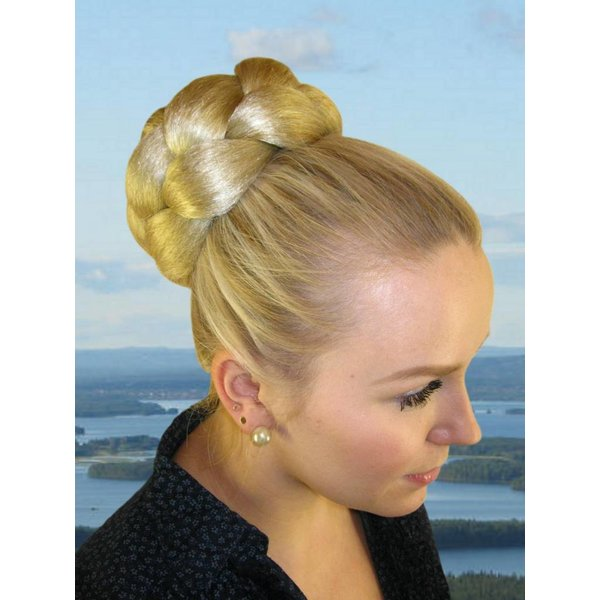 Braided Bun L size, voluminous