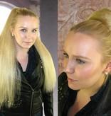 Braided Hair Bun L size, voluminous