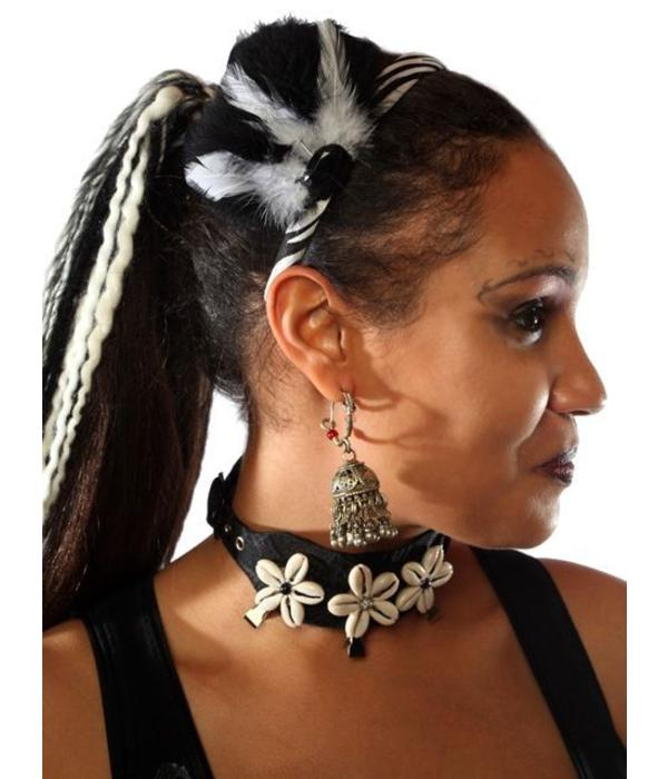 Cowry Hair Jewelry, silver ornament beads