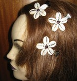 Cowry Hair Flowers, amethyst beads