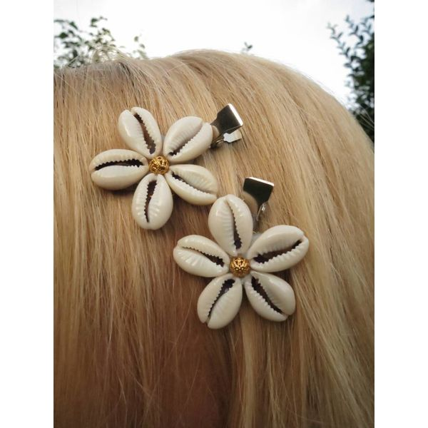 Cowry Hair Jewelry, gold