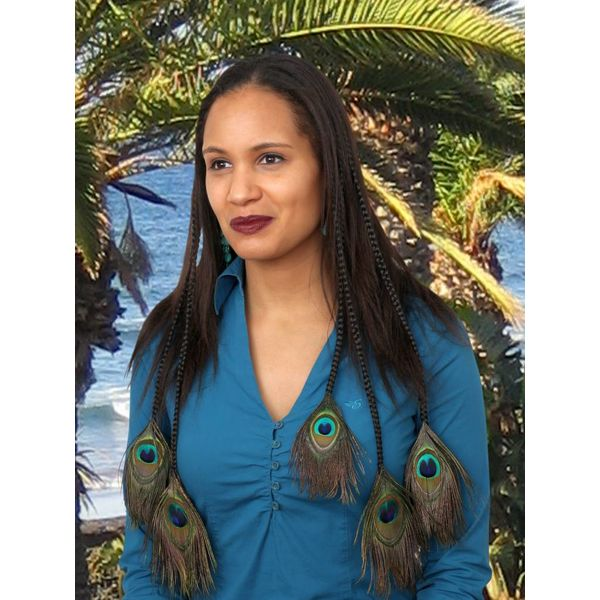 Peacock Hair Pieces M Set