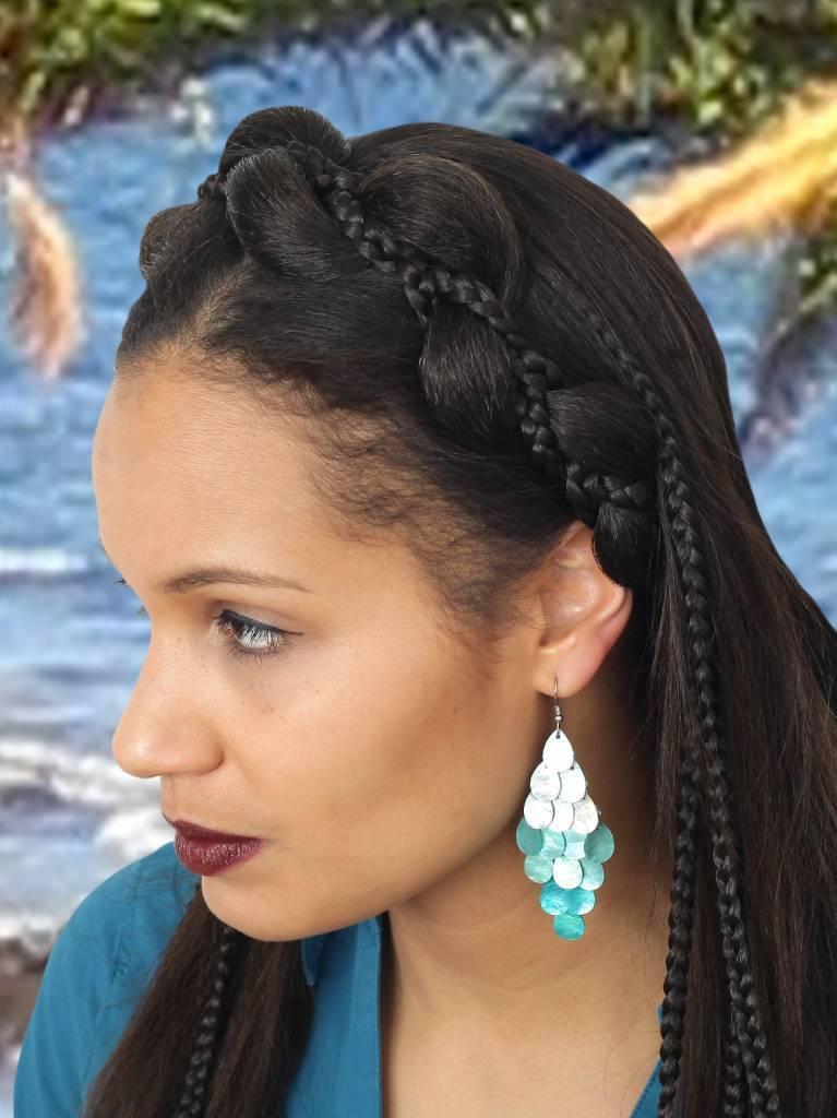 Mermaid hairstyle fantasy headpiece mermaid headdress