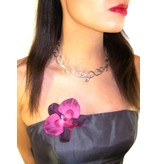 Wine Red Orchid Hair Flowers 2 x