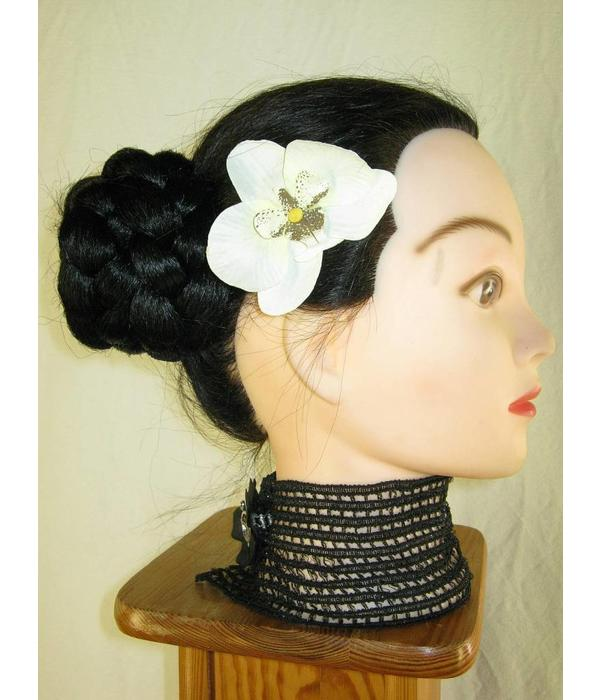 Ivory Orchid Hair Flowers 2 x
