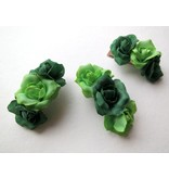 Green Rose Hair Flowers