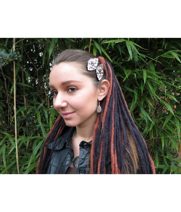 Goth Silver Snowflake Hair Clip