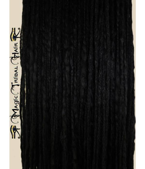 Black Goth Dreadlocks Hair Piece