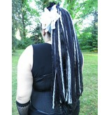 Black & Grey Goth Dread Falls