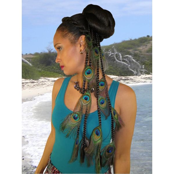 Peacock Extensions Set 16 or 20 Feathers