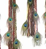 Clip-In Peacock Dreadlocks, many colors