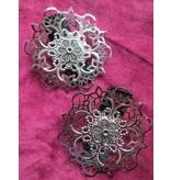 Hair Flower Gothic Silver Ornament