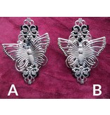 Tribal Fusion Fascinator Set Butterfly, silver