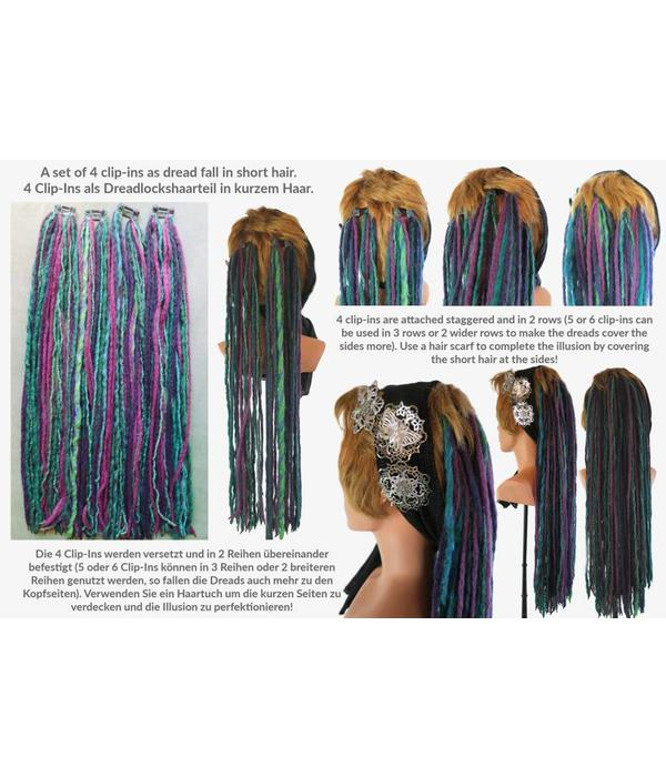 Rainbow Clip-In Dreads - limited edition