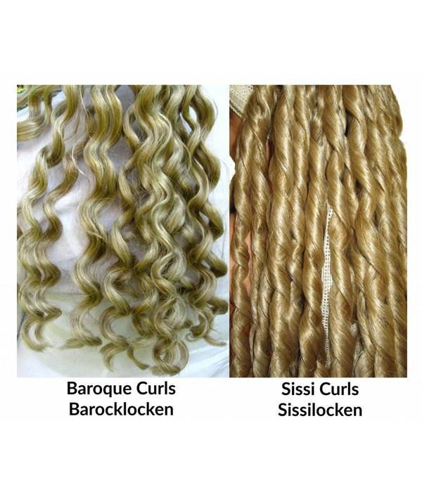 Club curls clip in hair falls Sissi/ Baroque style