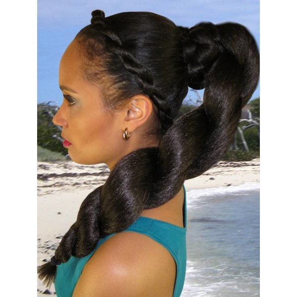 Afro Twist Braid L size, crimped hair