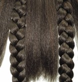 2 Twist Braids S size, crimped hair