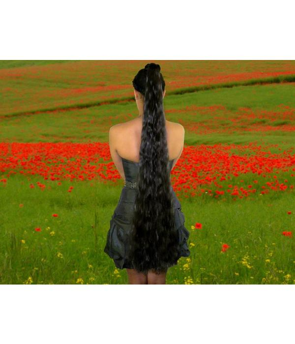 """Hair Extension, 39"""" long, size M extra, waves, color 8"""