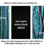 Color customization for clip-in dreads