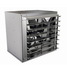 """Fantech Fan Tech 48"""" Wall Mount Cabinet Premier Shuttered Greenhouse Exhaust Fan"""
