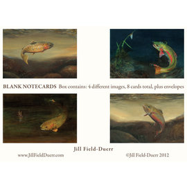 Jill Filed Deurr Trout Print Note Cards