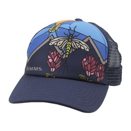 Simms Fishing Simms Small Fit Foam Mayfly Trucker, Admiral Blue