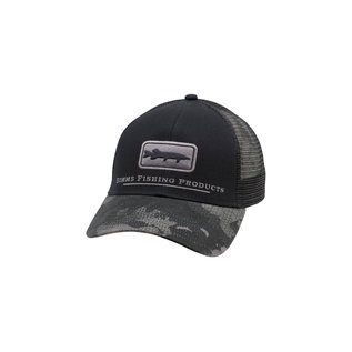 Simms Fishing Simms Musky Icon Trucker, Hex Camo Carbon