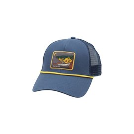 Simms Fishing Simms Small Fit Foam Patch Trucker, Dark Moon