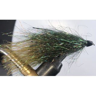 Olive Sparkle Minnow with Rubber Legs