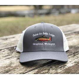 Orvis Orvis Grey and White Logo Brook Trout Trucker Hat