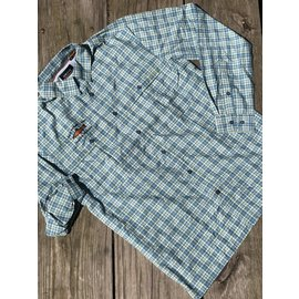 Orvis Orvis Gates Lodge Logo Open Air Caster Shirt - Tropical Blue Plaid