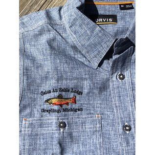 Orvis Orvis Gates Lodge Logo Tech Chambray Work Shirt