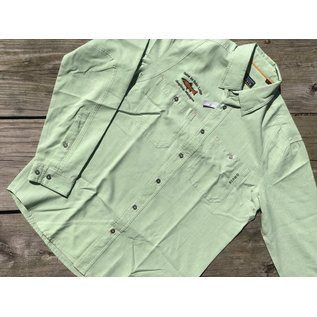 Orvis Gates Lodge Logo Outsmart Insect Shield Tech Chambray Shirt